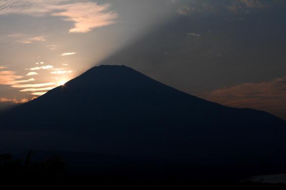 夕陽富士2a