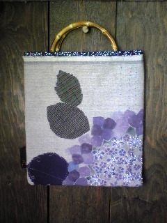 紫陽花と小雨