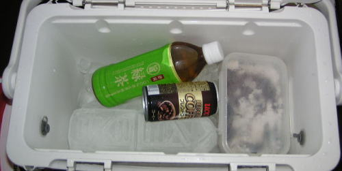 今日のために氷をぎょうさん作ったのに・・・