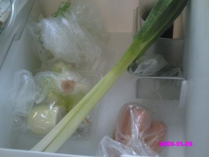 野菜室下段掃除前