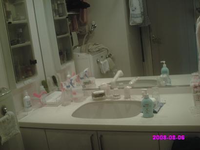 洗面所 整理前
