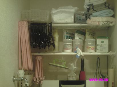 洗濯機上の棚 整理前
