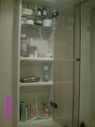 洗面所左の棚 整理前