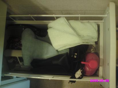 洗面所引き出し 下の段 整理前