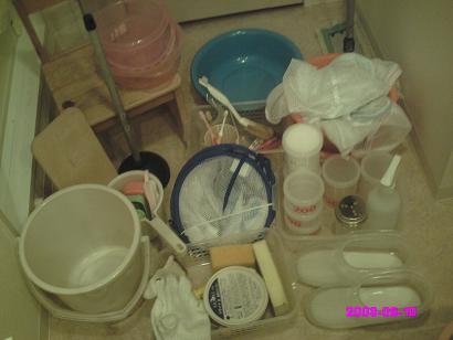 洗面台下の収納 すべて出す