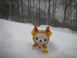 ミクロと雪景色