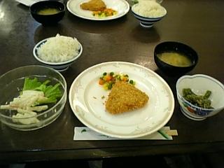 晩御飯これだけ?!!