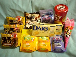・・・お菓子が大量です_| ̄|●