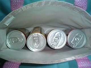 缶が見えますね・・・