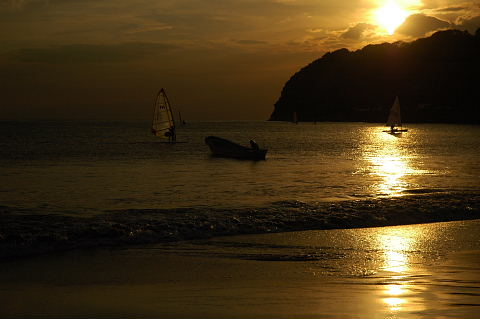 思い出深い逗子海岸の夕陽