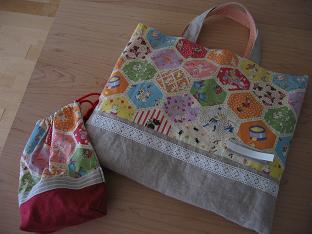 絵本バッグとコップ袋
