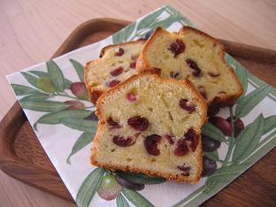 クランベリーのバターケーキ