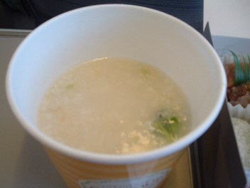 ANA沖縄行きスーパーシートの朝食