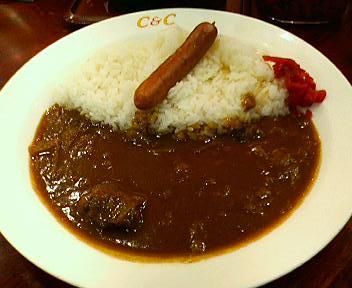 京王新宿駅C&Cでモーニングカレー