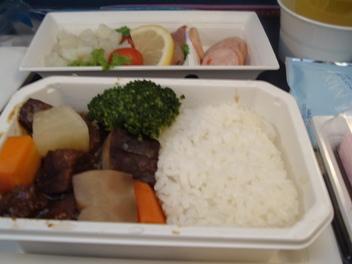 ANA羽田行き機内食