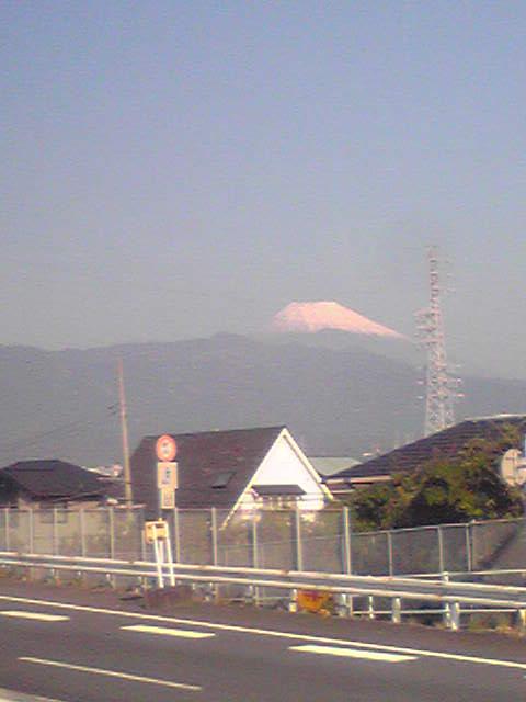 遠足☆行きの富士山