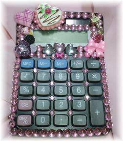 電卓デコブラック×ピンク