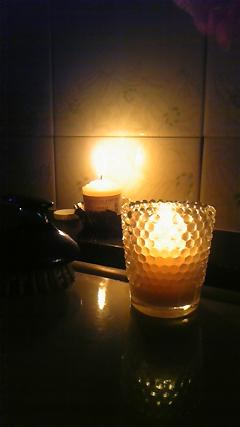 candle bath time