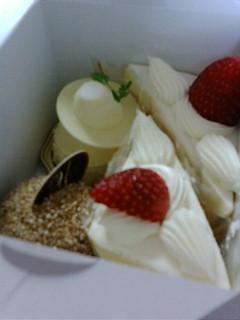 館のケーキ