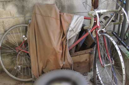 古い自転車の再生