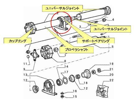 サポートベアリング部品図