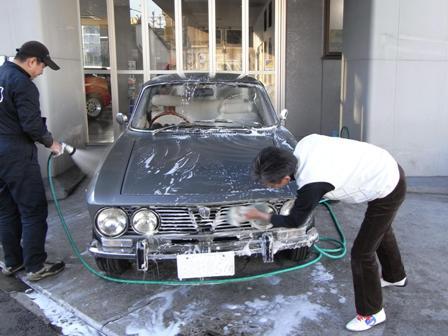 Giulia洗車2