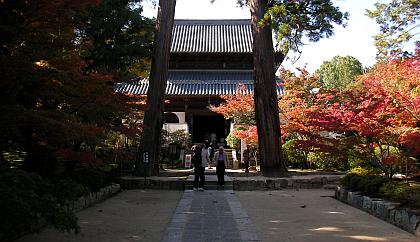 岡山県総社市の井山宝福寺の紅葉