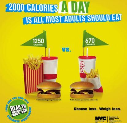 NY市が「肥満防止」ポスター