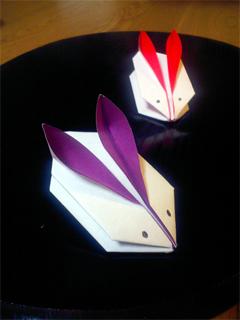 折り紙うさぎ