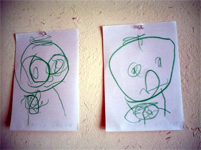 お父さんとお母さんの絵