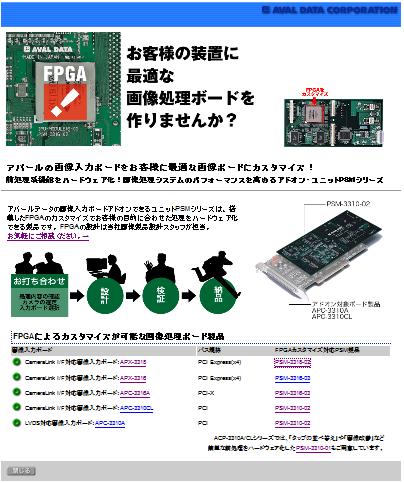 FPGA画像入力ボードカスタマイズ
