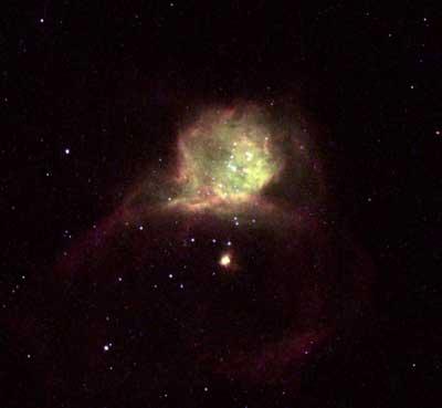 NGC6822銀河「いて座」の方向約163万光年
