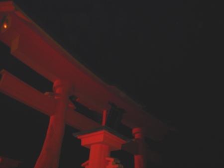 夜の大鳥居10m