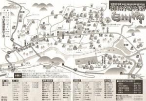 白川郷案内図