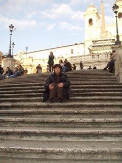 スペイン階段で