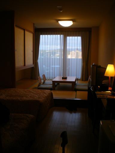ここに泊まりました。