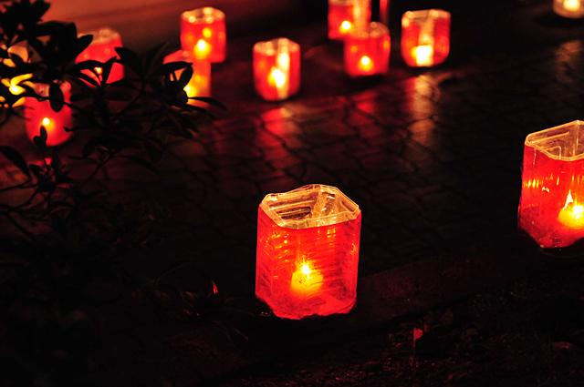 ペットボトルの手作り灯篭