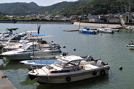 停泊中のボート