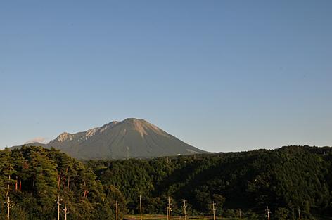 登った後の大山