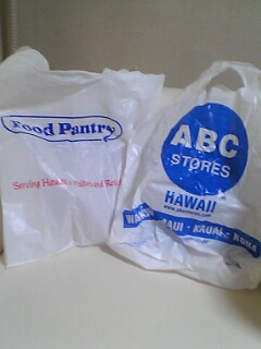 ハワイのレジ袋