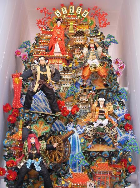 篤姫が一番上に載った博多祇園山車