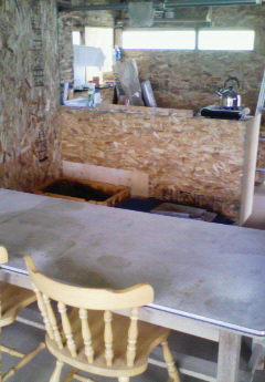 バーベキュー小屋の台所