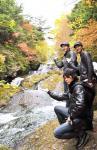 マサ、森ポン&板橋at龍頭の滝