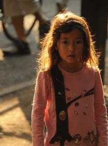 a girl at Inokashira Park