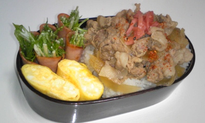 081209_豚丼弁当