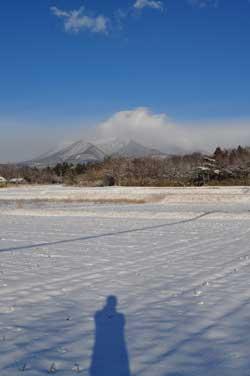 那須岳雪景色