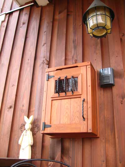 じざい工房の鉄とチェリーのベンチ