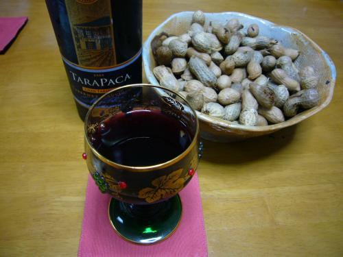 ダッキショと赤ワイン