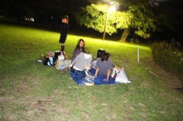 夜のピクニックデース。