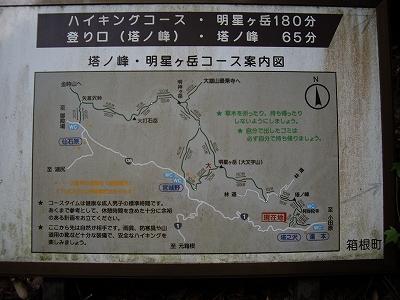 塔ノ沢の案内板20090620